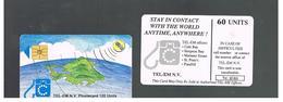 ST MAARTEN (ST. MARTIN)   - 1995 GLOBE 60  - USED   RIF. 10781 - Antilles (Netherlands)