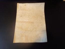 Manuscrit Sur Peau De Porc Ou Chèvre Du 25 Juillet 1643 Concernant Les Paleines ( Cuvée De Vins ?? ) - Manuscripts