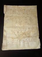 Manuscrit Sur Peau De Porc Ou Chèvre Du 20 Mai 1650 Concernant Les Paleines ( Cuvée De Vins ?? ) - Manuscripts