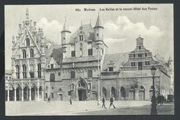 +++ CPA - MALINES  MECHELEN - Les Halles Et Le Nouvel Hôtel Des Postes  // - Malines