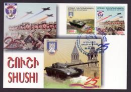 Armenien / Armenie / Armenia Karabakh 2017, 25th Ann. Liberation Shushi And Artsakh Army -  Card Maximum - Armenia