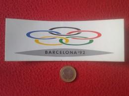 ANTIGUA PEGATINA ADHESIVO STICKER BARCELONA 92 1992 OLIMPIADAS JUEGOS OLÍMPICOS DE ESPAÑA SPAIN CATALONIA VER FOTO/S Y D - Pegatinas