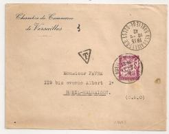 TAXE 3F VERSAILLES R.P. BANLIEU OUEST Pour RUEIL MALMAISON Seine Et Oise. 1942. - Lettres Taxées
