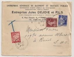 TAXE 30C, RUEIL Seine Et Oise, PARIS XIII. - Lettres Taxées