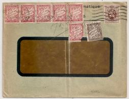 PEU COMMUN AINSI. TAXE 1F90 Sur Enveloppe Commercial BELGE. (Rueil) MALMAISON Déchiffré. - Lettres Taxées