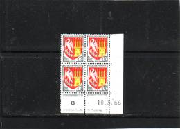 N° 1353A - 0,12F Blason D'AGEN - G De G+H - 2° Tirage/1° Partie Du 1.3.66 Au 16.3.66 - 10.03.1966 - - 1960-1969