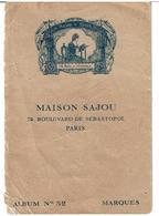 MAISON SAJOU - Petit Livret à 6 Feuillets - Album N° 52 - Dessins De Broderies Point De Croix - VOIR SCANS - Cross Stitch