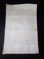 Manuscrit Sur Peau De Porc Ou Chèvre 1664 Concernant Les Paleines ( Cuvée De Vins ?? ) - Manuscripts