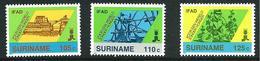 SURINAME MNH - 1988 10th Anniversary Of International Agricultural Development Fund - Vari Cent - Michel SR 1271 1273 - Suriname