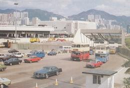 Hong Kong - Kowloon Entrance Of Cross Harbour Tunnel Old Cars Doubledeck Bus - Cina (Hong Kong)