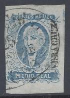 MEXICO 1856 MIGUEL HIDALGO 1/2r BLUE Nº 1 - Mexico