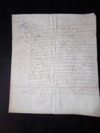 Manuscrit Sur Peau De Porc Ou Chèvre Concernant Les Paleines ( Cuvée De Vins ?? ) - Manuscripts