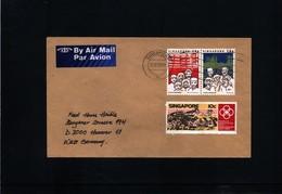 Singapore Interesting Airmail Letter - Singapore (1959-...)
