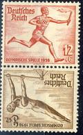 Germania Terzo Reich 1936 UN Serie N. 565 E N. 569 Zusammendruck MNH Postfrisch Cat € 5 - Germania