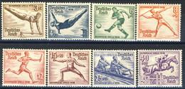 Germania Terzo Reich 1936 UN Serie N. 565-572 MNH Postfrisch Cat € 145 - Germania