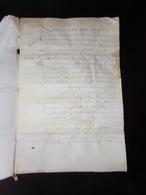 Manuscrit Sur Peau De Porc Ou Chèvre Du 9 Juin 1651 Concernant Les Lieux Des Paleines ( Cuvée De Vins ?? ) - Manuscripts