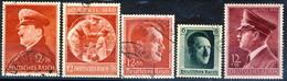 Germania Terzo Reich 1937-1942 Cinque Ritratti Usati Cat € 25 - Gebraucht
