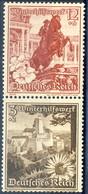 Germania Terzo Reich 1938 UN Serie N. 594 E N. 599 Zusammendruck MNH Postfrisch Cat € 4 - Germania