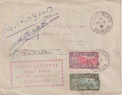 REUNION : VOYAGE D'ETUDE . REUNION MADAGASCAR . SIGNE DE L'EQUIPAGE . 1938 . - Reunion Island (1852-1975)