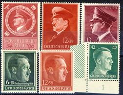 Germania Terzo Reich 1938-1942 UN Sei Ritratti MNH E MH Cat € 16 - Germania