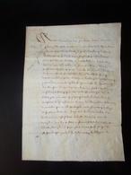 Manuscrit Sur Peau De Porc Ou Chèvre De 1652 Concernant Les  Paleines ( Cuvée De Vins ?? ) - Manuscripts