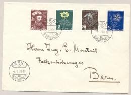 Schweiz - 1949 - Pro Juventute Set On Local Cover Bern - Briefe U. Dokumente