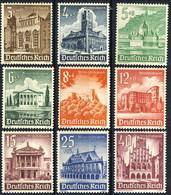 Germania Terzo Reich 1940 UN Serie N. 675-683 MNH Postfrisch Cat € 42 - Germania
