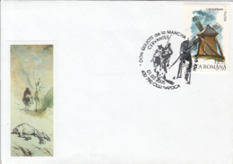 70589- CERVANTES, DON QUIJOTE, WINDMILL, WRITER, SPECIAL COVER, 2005, ROMANIA - Scrittori
