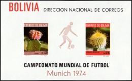 ~~~ Bolivia 1973 - Soccer 1974 Munich - Mi. Block 36 ** MNH - CV 42.00 Euro  ~~~ - Bolivië