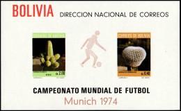 ~~~ Bolivia 1973 - Soccer 1974 Munich - Mi. Block 37 ** MNH - CV 42.00 Euro  ~~~ - Bolivie
