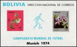 ~~~ Bolivia 1973 - Soccer 1974 Munich - Mi. Block 38 ** MNH - CV 60.00 Euro  ~~~ - Bolivië