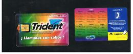 MESSICO (MEXICO) - 1997 TRIDENT, CALENDAR  GOLD CHIP - USED - RIF.   10783 - Mexico