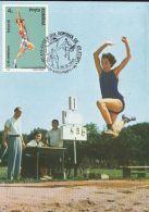 70626- LONG JUMP, ATHLETICS, MAXIMUM CARD, 1992, ROMANIA - Athletics