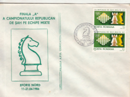 70644- EFORIE NORD NATIONAL CHAMPIONSHIP, CHESS, SPECIAL COVER, 1984, ROMANIA - Schaken