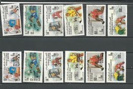 MAURITANIE Scott 432-437, 440-445 Yvert 431-436, 439-444 (12) O Et ** Cote 14,10 $ 1979-80 Surcharges - Mauritanie (1960-...)