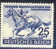 Germania Terzo Reich 1942 UN Serie N. 738 MNH Postfrisch Cat € 22 - Germania