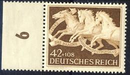Germania Terzo Reich 1942 UN Serie N. 739 Numero Di Tavola MNH Postfrisch Cat € 20 - Germania