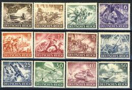 Germania Terzo Reich 1943 UN Serie N. 750-761 MNH Postfrisch Cat € 22 - Germania