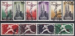 ESPAÑA 1960 Nº 1280/89 SERIE COMPLETA USADA CON MATASELLOS DE LA EXPOSICION - 1931-Hoy: 2ª República - ... Juan Carlos I