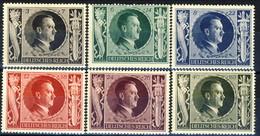 Germania Terzo Reich 1943 UN Serie N. 763-768 MH Cat € 5 - Germania
