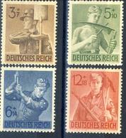 Germania Terzo Reich 1943 UN Serie N. 769-772 MNH Postfrisch Cat € 4 - Germania