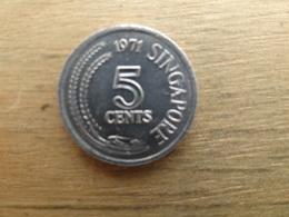 Singapour  5  Cents  1971  Km 2 - Singapour