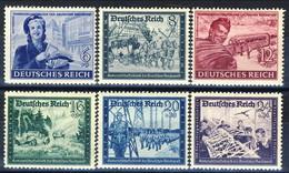 Germania Terzo Reich 1944 UN Serie 805-810 MH Cat. € 1 - Germania