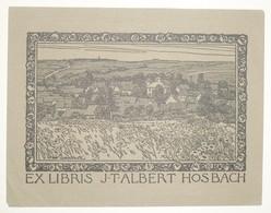 Ex-libris Moderne XXème Illustré -  Allemagne - J.T.ALBERT HOSBACH - Ex-libris