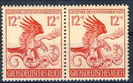 Germania Terzo Reich 1944 UN Serie 813 Coppia MNH Postfrisch Cat. € 2 - Germania