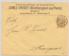 Österreich - 1907 - 3H Privat Ganzsache Kranken-Unterstutzung GOMLE CHESED - Local Use Wien - Postwaardestukken
