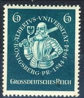 Germania Terzo Reich 1944 UN Serie N. 816 MNH Postfrisch Cat. € 1 - Germania