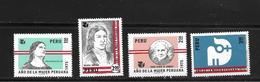 PEROU 1975 ANNEE INTERNATIONALE DE LA FEMME   YVERT N°611/14  NEUF MNH** - Peru