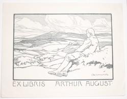 Ex-libris Moderne XXème Illustré -  Allemagne - ARTHUR AUGUST - Ex Libris
