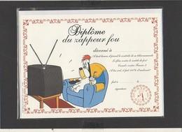 """Diplôme Du Zappeur Fou """" Droopy """" / Illustrateur Tex Avery ( Sous Blister Avec Enveloppe) - Diplomi E Pagelle"""